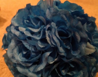 Royal blue pomander balls - set of two