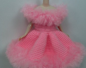 Handcrafted crochet knitting dress outfit clothes for Blythe doll # 200-24