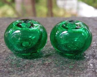 OZ  Hollows, 2 - PAIR Lampwork Beads