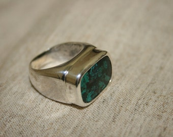 925 Sterling Silver  Ring, Eilat Stoneb Ring, Handmade Silver Ring, Big Stone Ring, Natural Stone Ring,