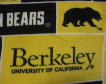 California University in Berkeley with Navy Blue Handmade Fleece Blanket - Ready to Ship Now