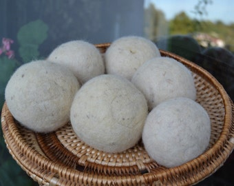 Felt Balls - Wool Dryer Balls - Felted Ball - Eco Friendly Laundry - Fabric Softener - Hypoallergenic – Unscented