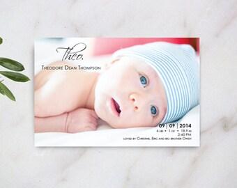 Birth Announcement, Photo Birth Announcement, Baby Photo Announcement, New Baby Announcement