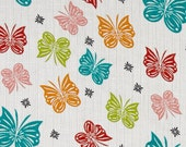 Designer Double Gauze, Butterfly Flutter Multi Color by Riley Blake, Sold by the Yard