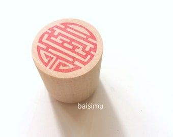 Longevity. Rubber stamp