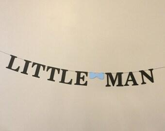 Little man banner 5 inch letters baby boy shower first birthday banner