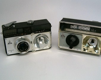 Vintage Camera Pair, Tower 39 and Tower 127, Working vintage 35mm camera and 127 camera