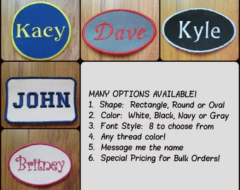Personalized Patch Custom Patch Name Patch Iron On Patches Embroidered Patches for Clothes Jacket Patches Monogram Patch Biker Patch