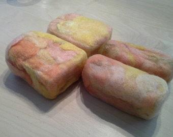 Pineapple Mango Coconut Felted Soap