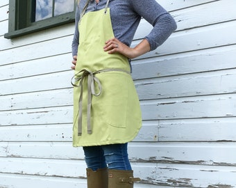 Canvas Shortie Utility Apron Made to order allow 7-10 days