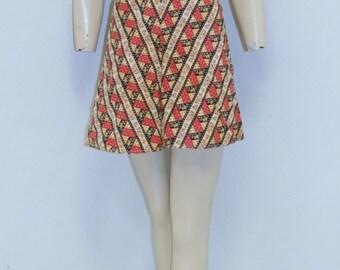 Vintage 1930's Swimsuit Play Suit Romper Bathing Suit Shorts - Size 2
