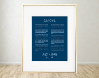 Printable Art: Wedding Vows Print