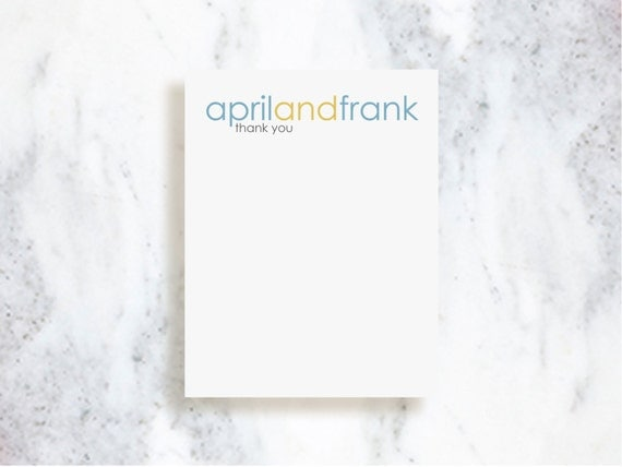 Personalized Note Card Set // Modern Logo
