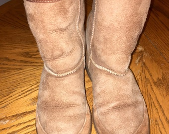vintage pair of brown suede Australian UGG boots m7 L8 RAD