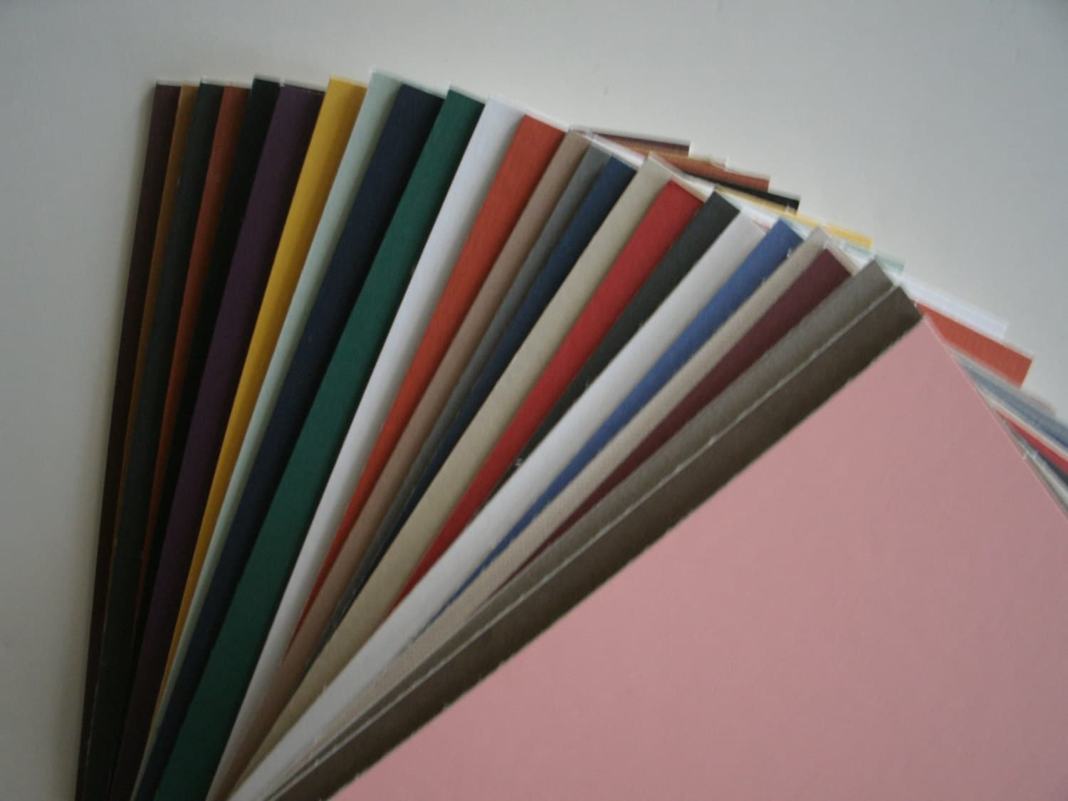 25 5 X 7 Picture Frame Uncut Blank Mat Board Mixed Colors