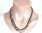 READY FOR SPRING Sale: Ashira Lemon Quartz Black Spinel Statement Necklace with Charms