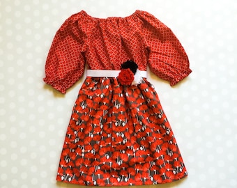 Girls Fall Dress - Fall Dresses - Girls Dresses - Girls Dress - Baby Dress - Baby Girl Dresses - Poppy Dress - Baby Dresses - Poppies - Red
