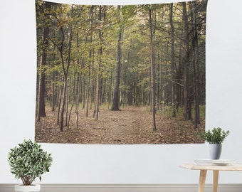 Tapestry Wall Hanging - Nature tapestry - Tapestries - Woods Tapestry - Forest Green Trees Tapestry