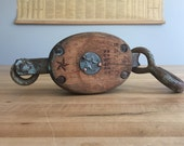 Vintage Boston & Lockport Industrial Pulley