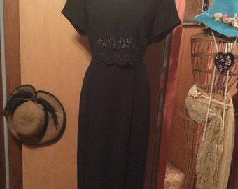 15% OFF SALE Vintage Scarlett Black Dress/ Size 9/10