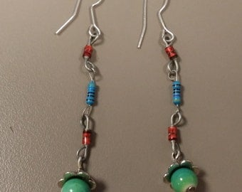 Triple Resistor Earrings