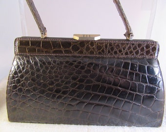 1960s Alligator purse made in France
