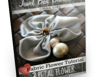 Ribbon Flower Tutorial, Ribbon Flower, Ribbon Flower Pattern, 3 Petals