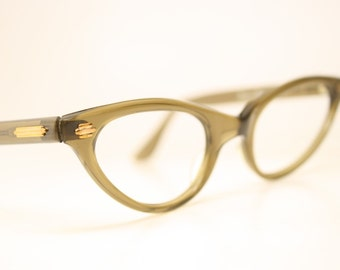 Unused Browsmoke cat eye glasses  vintage cateye eyeglasses frames
