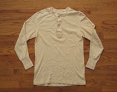 mens vintage military thermal shirt