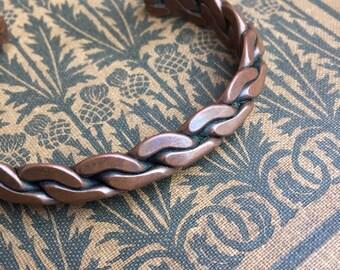Braided Copper Bracelet