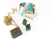 SET SALE - Beaded Jewelry, Teal