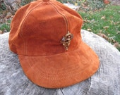 Vintage LL Bean Suede Leather Cap Hat