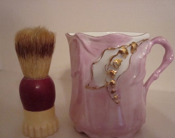 Mustache cup and brush