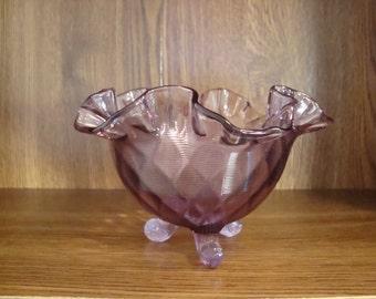 Purple Fenton bowl