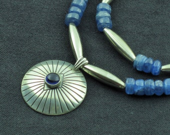 Kyanite and Sterling 2 Strand Necklace