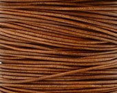 Leather-1mm Round Cord-Soft-Natural Light Brown-2 Meters