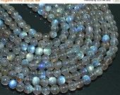 VALENTINE SALE 55% 13 Inches, 5mm, Natural Labradorite Smooth Round Ball Beads Strand, SKU7233/D