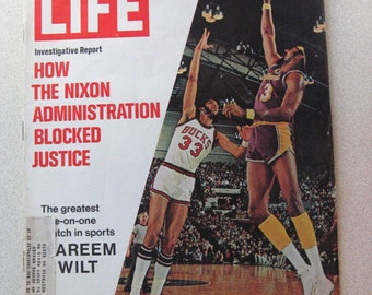 Life Magazine, March 24, 1972 - Wilt Chamberlain and Kareem Abdul-Jabbar, basketball