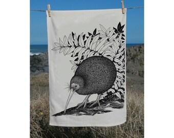 Tokoeka, Brown Kiwi tea towel