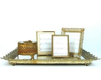 popular items for filigree mirror tray on etsy