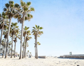 "Huntington Beach, Palm Tree Decor, Beach Wall Art, Beach Decor, California, Beach Boardwalk, Palm Tree Print, ""Huntington Boardwalk"""