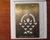 Brass Quilt Basket Pattern Embossing Stencil