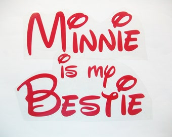 DIY Vinyl Iron On - Minnie is my Bestie