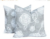 SALE Pillows, Toss Pillow, Gray Pillow, Decorative Throw Pillow Cover Pewter Gray One All Sizes Gray Floral Cushion Covers Gray Cushions