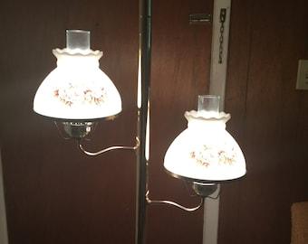 Vintage 70s Floor To Ceiling Pole Lamp Light