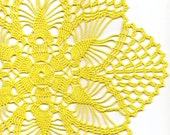 Crochet doily, lace doily, table decoration, crocheted place mat, centre piece,doily tablecloth, table runner, napkin, yellow