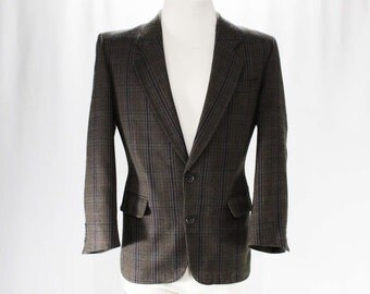 Men's Small Suit Jacket - Designer Hardy Amies - 1950s-Inspired Mid Century Look Men's Wool Sport Coat - 80s Does 50s - Chest 40 - 47290