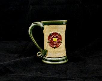 Stoneware Tudor Rose Medieval Mug