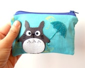 Totoro with umbrella small pouch, my neighbor totoro