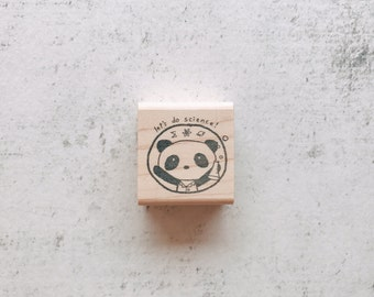 The Let's Do Science Kawaii Panda Rubber Stamp